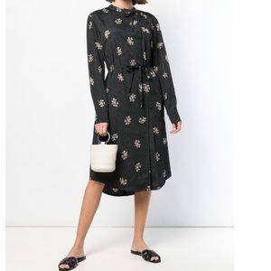 VINCE floral pattern midi dress, Small